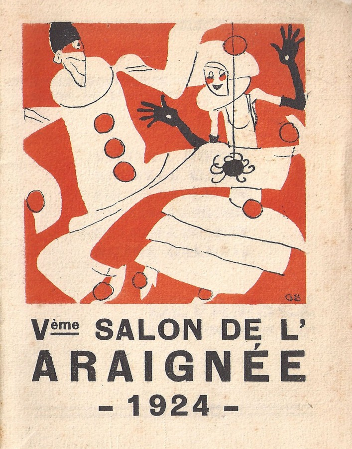 Couverture du catalogue du Salon de l'Araignée, dessinée par Gus Bofa.
