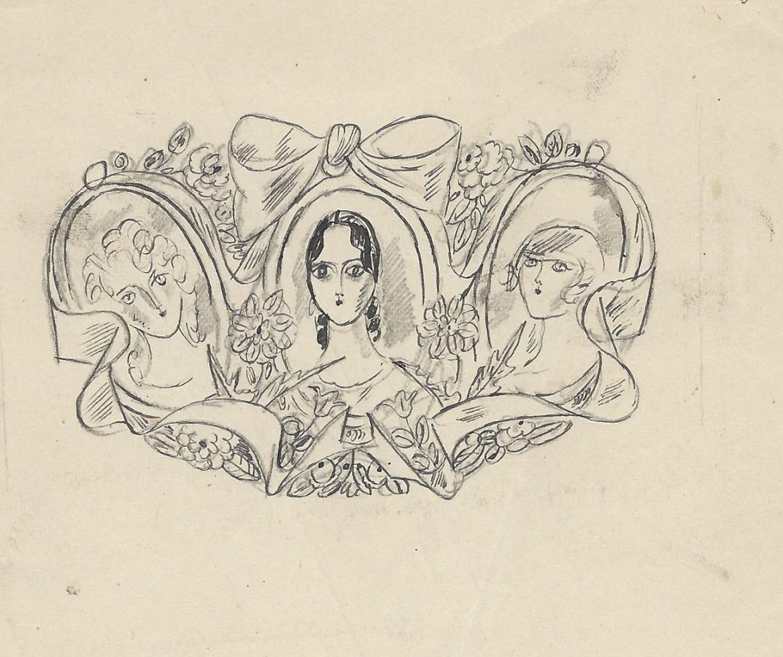 Frontispice, dessin original de Chas Laborde.